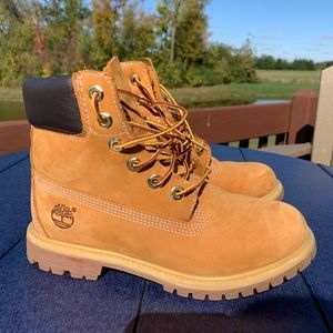 Gently used Timberlands